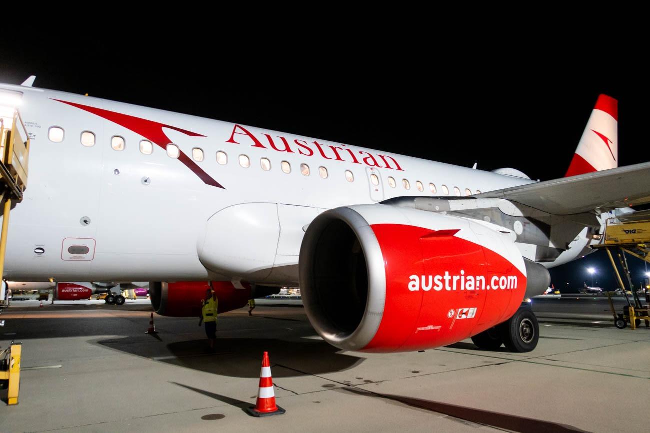 Austrian Airlines A319 in Vienna