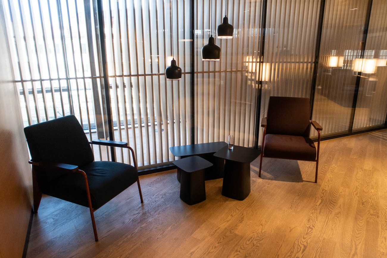Swiss Senator Lounge at Zurich Airport Seating