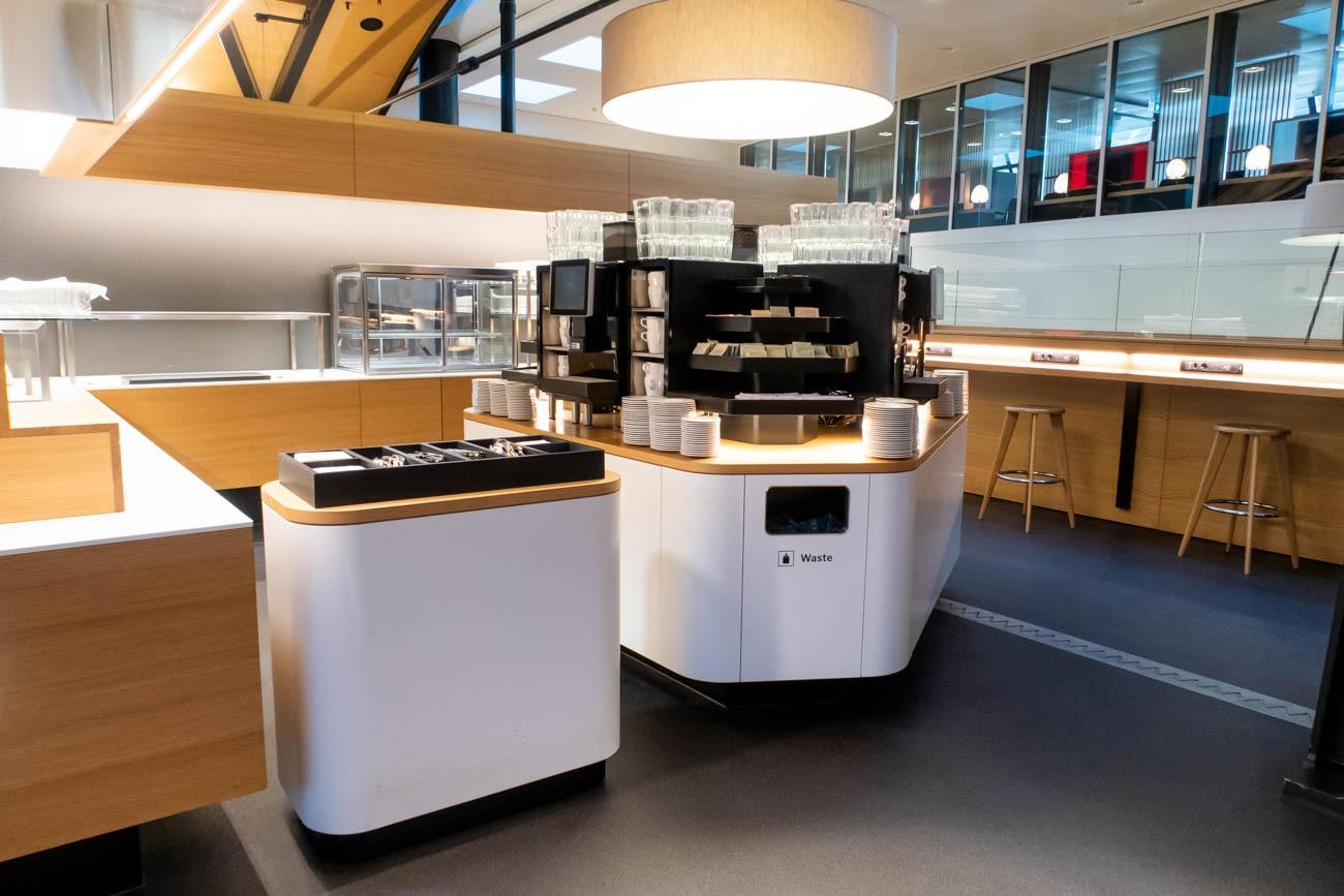 Swiss Senator Lounge at Zurich Airport Buffet Area