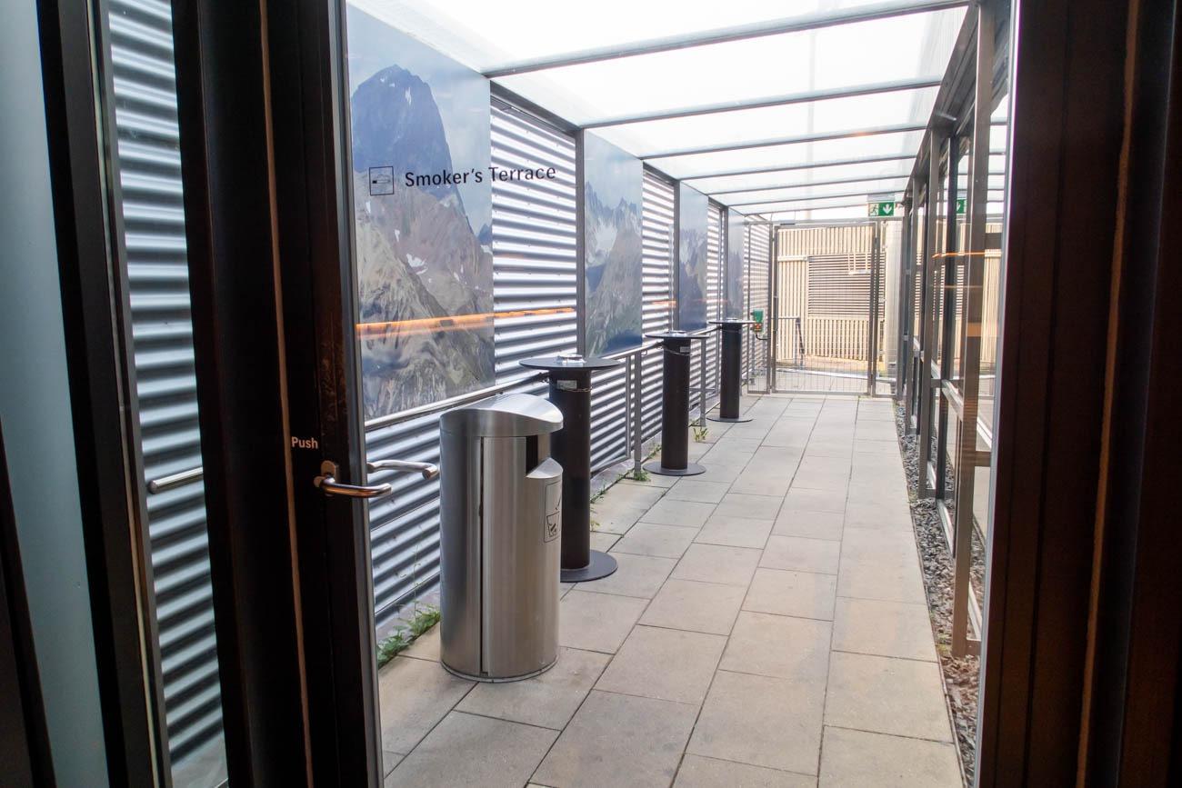 Swiss Senator Lounge at Zurich Airport Smoking Room
