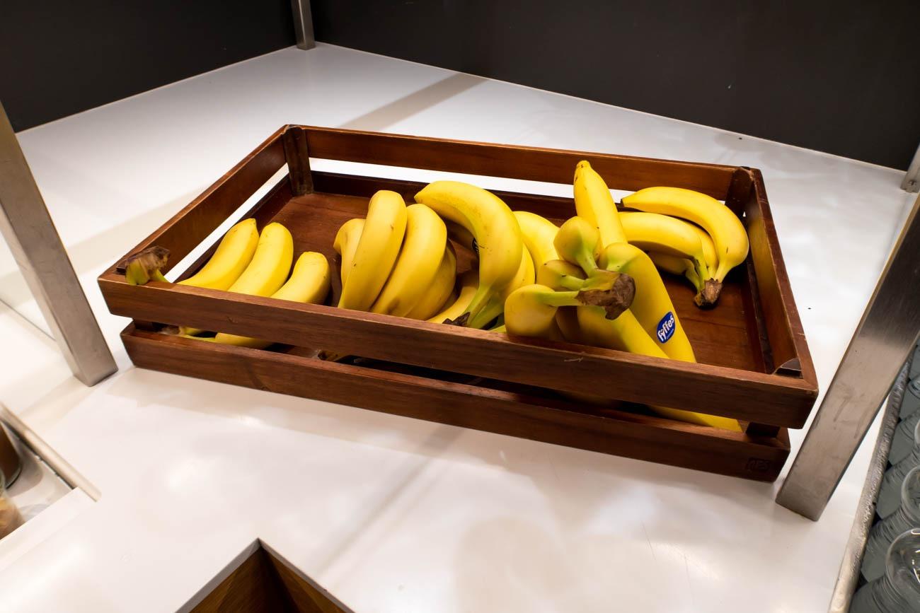 Swiss Senator Lounge at Zurich Airport Bananas