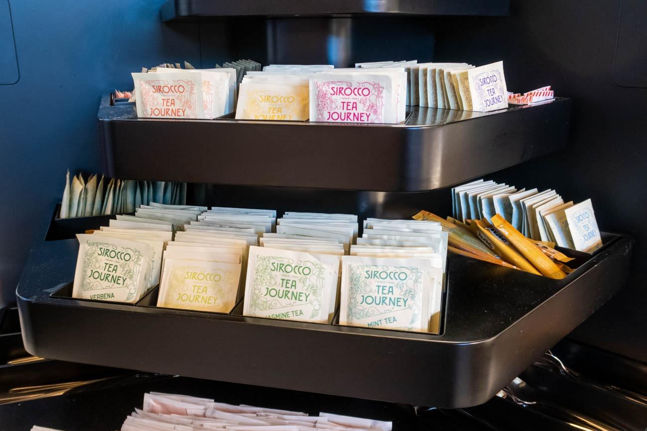 Swiss Senator Lounge at Zurich Airport Tea
