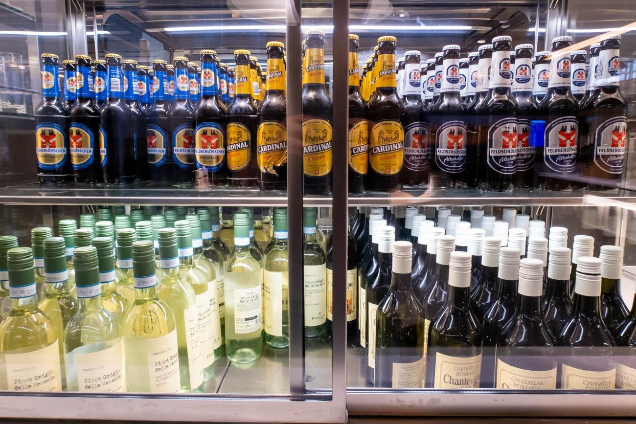 Swiss Senator Lounge at Zurich Airport Beer