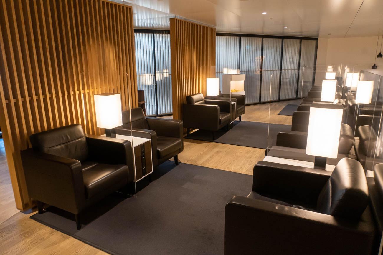 Swiss Senator Lounge at Zurich Airport Sofa Chairs