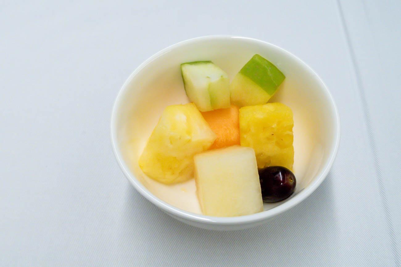 ANA Business Class Dinner Fruits